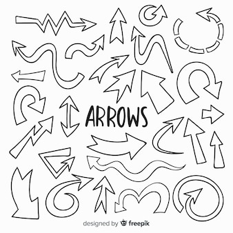 Hand drawn decorative arrow collection