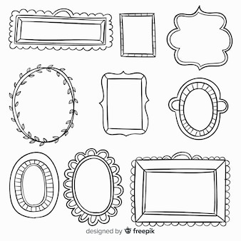 Hand drawn decorative frame collection