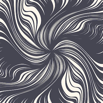 Hand drawn decorative ink twirl lines spiral texture abstract background