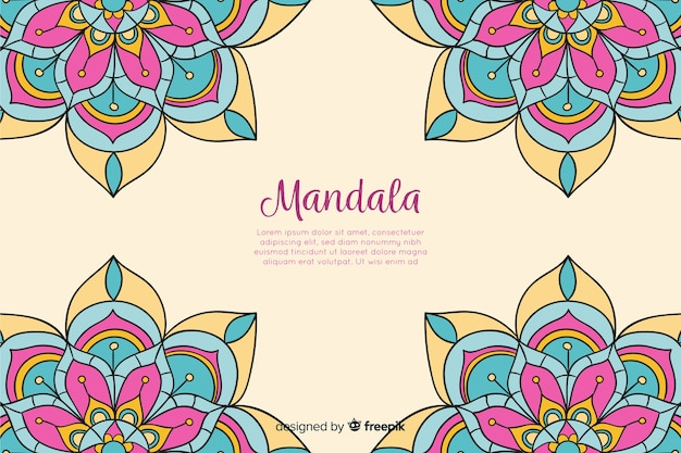 Hand drawn decorative mandala background