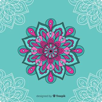 Hand drawn decorative mandala background