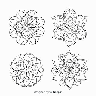 Hand drawn decorative mandala collection