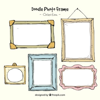 Hand drawn decorative photo frames