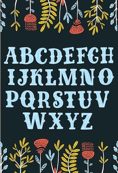 Hand drawn decorative vintage textured vector abc lettersnice font for your design