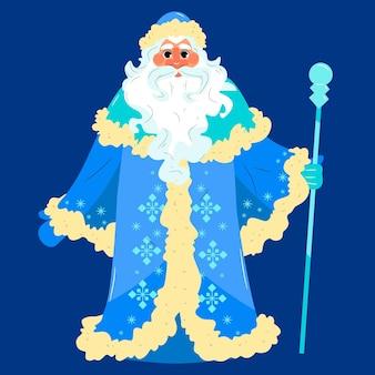 Дед мороз рисованный