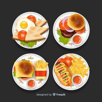 Набор рисованной вкусное блюдо