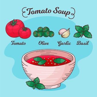Hand drawn of delicious recipe