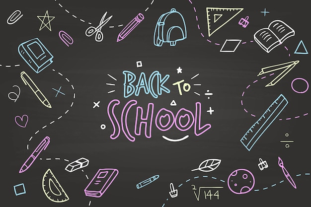 Hand drawn design back to school background