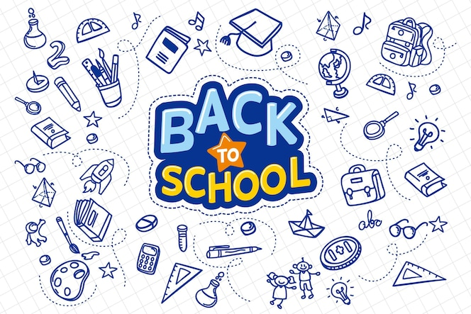 Hand drawn design back to school concept