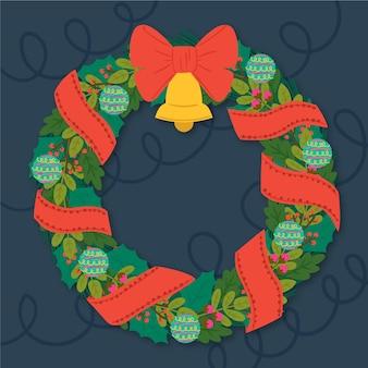 Ручной обращается дизайн рождественский венок