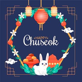 Hand drawn design chuseok celebration