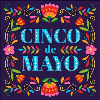 Hand drawn design cinco de mayo