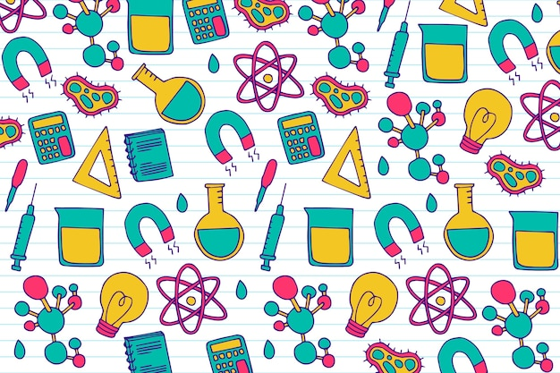 Hand drawn design colorful background