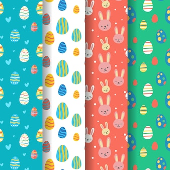 Hand drawn design easter day pattern collection
