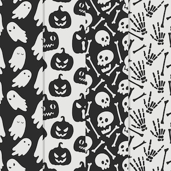 Hand drawn design halloween patterns