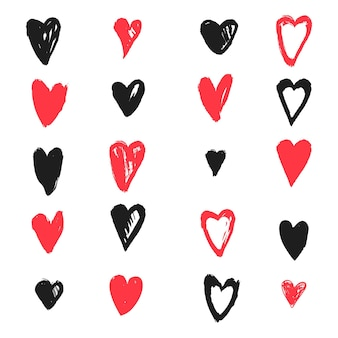 Hand drawn design heart pack