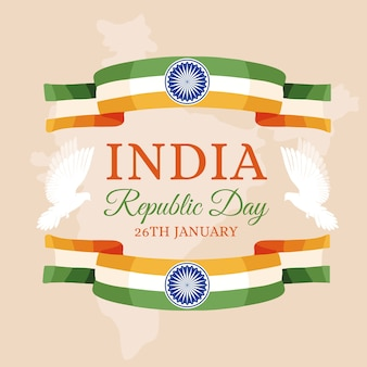 Hand drawn design indian republic day