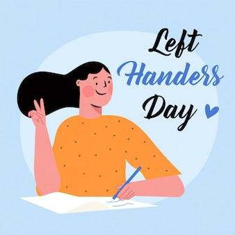 Hand drawn design left handers day