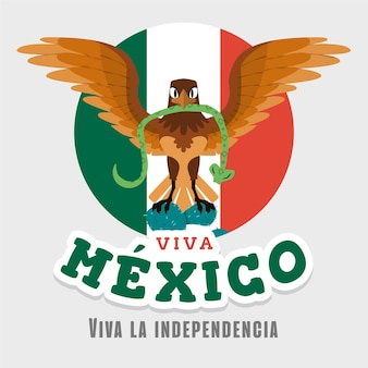 Hand drawn design mexico's independence