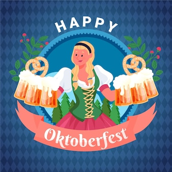 Hand drawn design oktoberfest