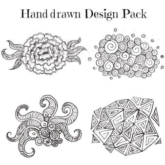 Рисованный дизайн-пакет