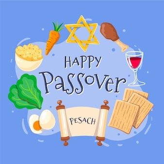 Hand drawn design passover event