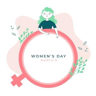 손으로 그린 디자인 여성의 날 행사 무료 벡터