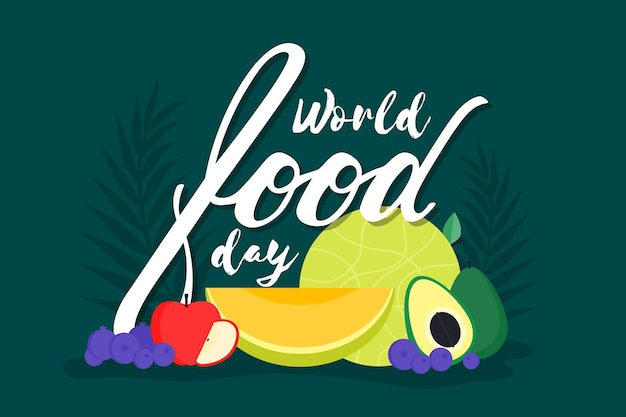 Hand drawn design world food day celebrate