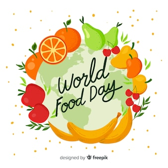 Hand drawn design for world food day