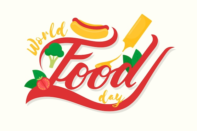 Hand drawn design world food day