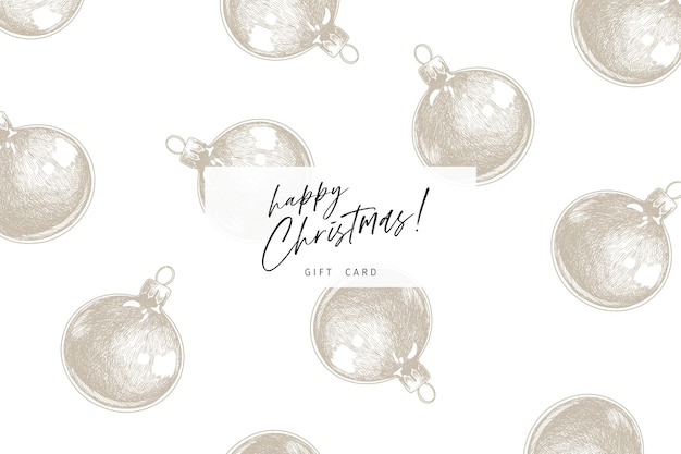 Hand drawn detailed christmas balls.