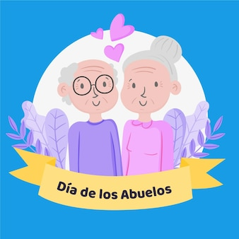 Нарисованная рукой иллюстрация диа де лос абуэлос