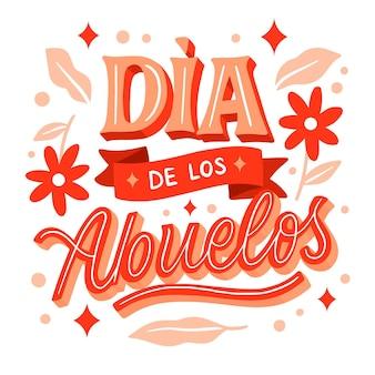 Hand drawn dia de los abuelos lettering