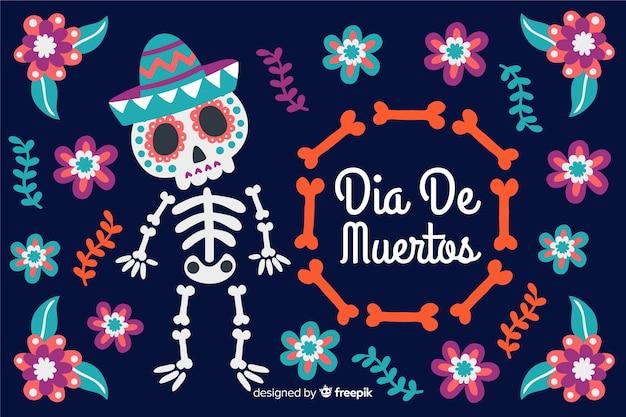 Hand drawn día de muertos background