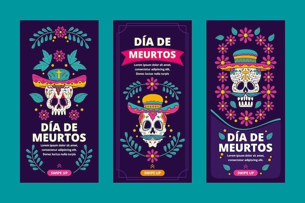 Коллекция историй instagram dia de muertos