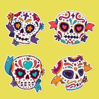 手描きのディアデムエルトスの頭蓋骨コレクション