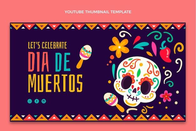 Miniatura di youtube dia de muertos disegnata a mano