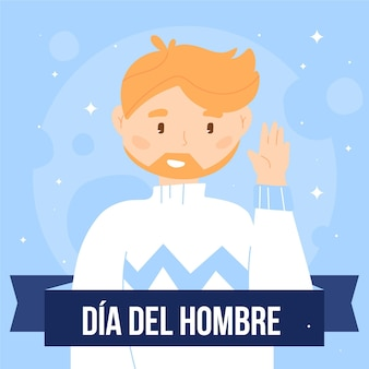 Hand drawn dia del hombre illustration