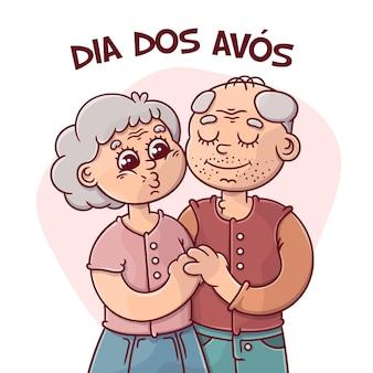 Рисованной концепция dia dos avos