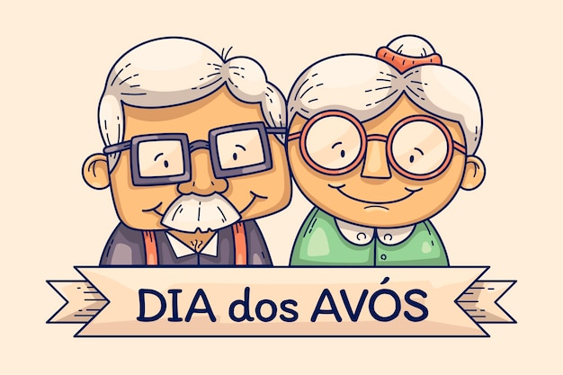 Hand drawn dia dos avos illustration
