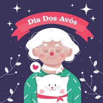Нарисованная рукой иллюстрация dia dos avos