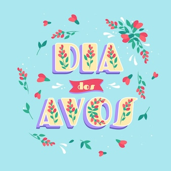 Hand drawn dia dos avos lettering