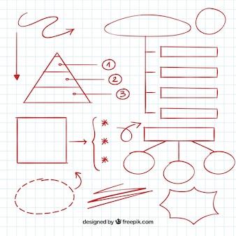 Элементы рисованной диаграммы