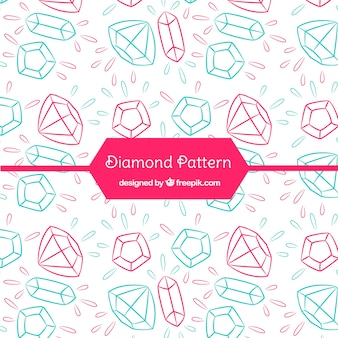手描きダイヤモンドパターン