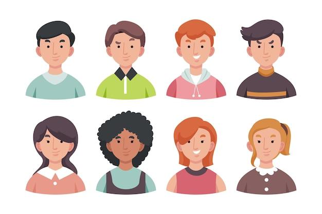 Набор иконок разных людей