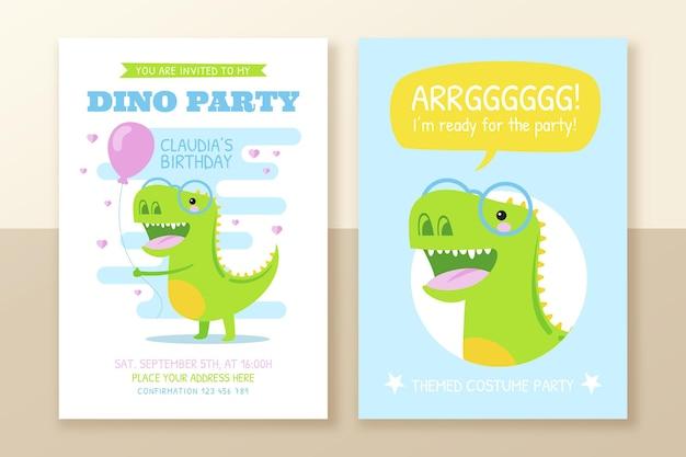 Ручной обращается шаблон приглашения на день рождения динозавра