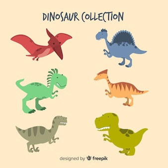 Hand drawn dinosaur collection