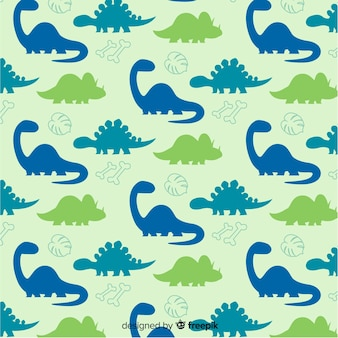 Hand drawn dinosaur pattern