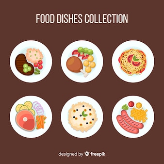 Hand drawn dish collection
