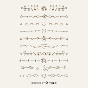 Hand drawn divider collection